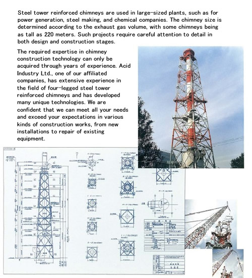 Chimney Construction|construction Section|ihara Furnace Co